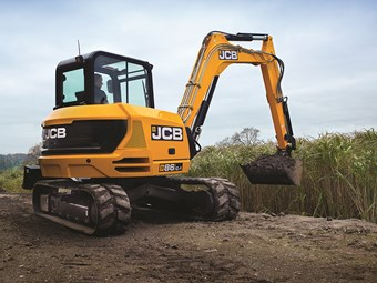 New 8-tonne JCB excavators offer tail swing options