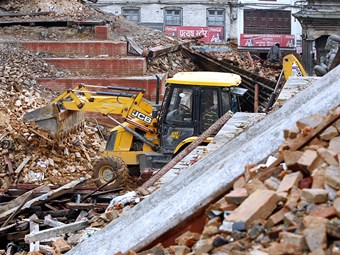 JCB donates backhoes to quake-ravaged Nepal