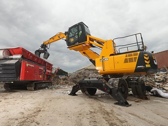 JCB JS20MH Wastemaster handles both landfill and recycling