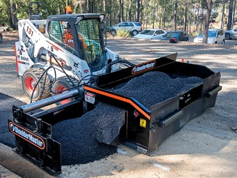 ShoulderMaster attachment turns skid steers into road pavers