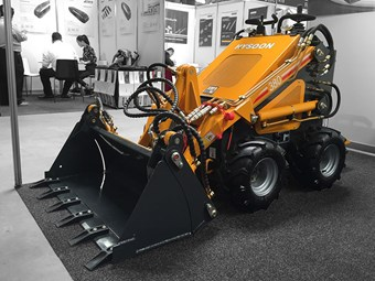 Hysoon HY380 mini skid steer loader gets easier and better