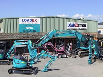 Loadex becomes sole Kobelco dealer in WA