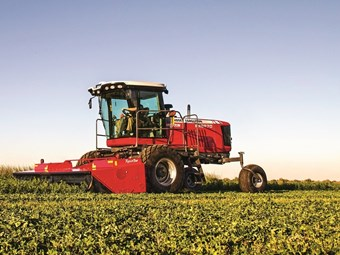 New MF windrower range debuts in Australia