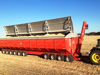 Dunstan new 130 and 150 tonne mother bins with weigh cells
