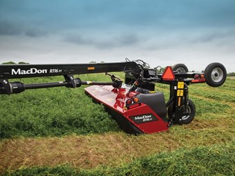 MacDon R1 mowers designed for tough crop conditions