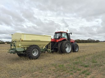 Award-winning system allows fertiliser rate adjustment on the go
