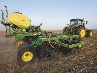 Deere redesigns small air drill