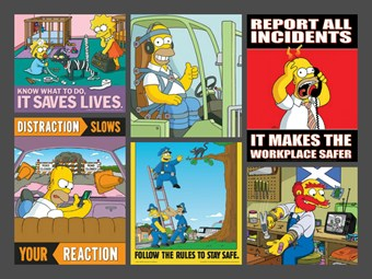 Promoting workplace safety through The Simpsons