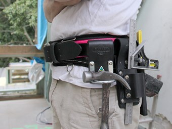 Pink Buckaroo tool belt helps fight against breast cancer