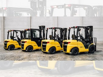 Hyundai launches 9-series diesel forklift range
