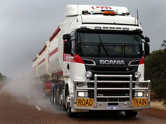 Testing a Scania R730 115-tonne C-Train