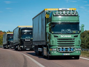 Scania and Ericsson team up on platooning