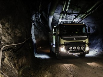 Volvo takes self-driving trucks underground