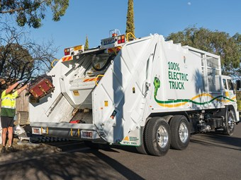 Pure battery electric truck operational in Melbourne
