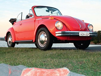 1976 VW Beetle Karmann Cabrio: Our shed
