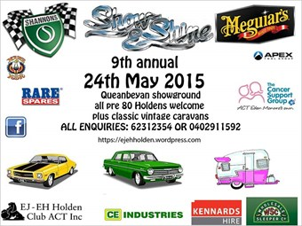 Events: EJ-EH Holden 9th Annual Show 'n' Shine 2015