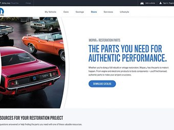 New Mopar parts site