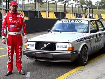 John Bowe reunited with Group A Volvo touring car - 30 years later!