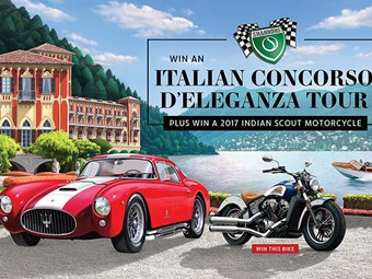 Win a Shannons Italian Concorso d'Eleganza tour plus an Indian