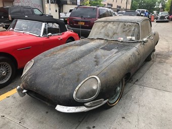 Barn-find E-type Jaguar up for grabs