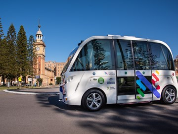 NEWCASTLE PASSENGER-CARRYING DRIVERLESS SHUTTLE TRIAL STARTS
