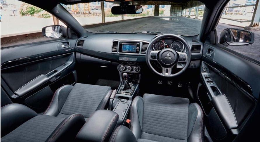 Mitsubishi Lancer Evo final edition interior