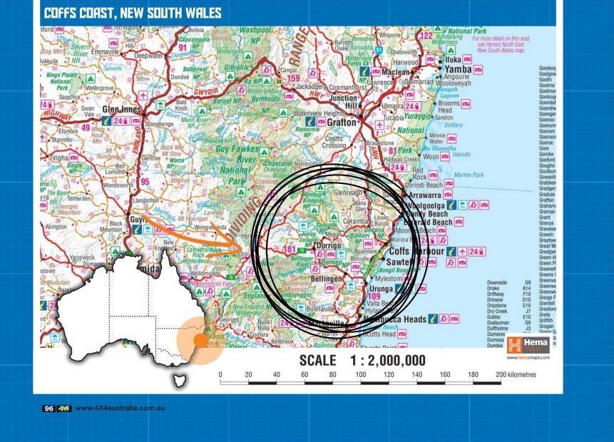 map of coffs coast