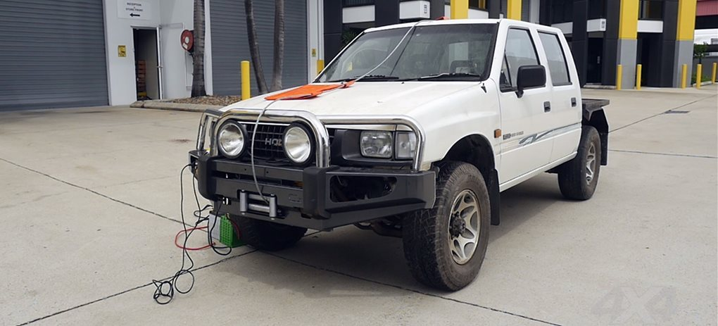 Winch crushes Holden Rodeo cover