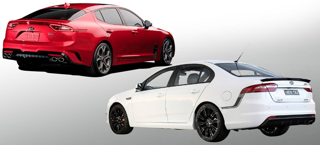 2016 Kia Stinger GT vs 2016 Ford Falcon XR6T