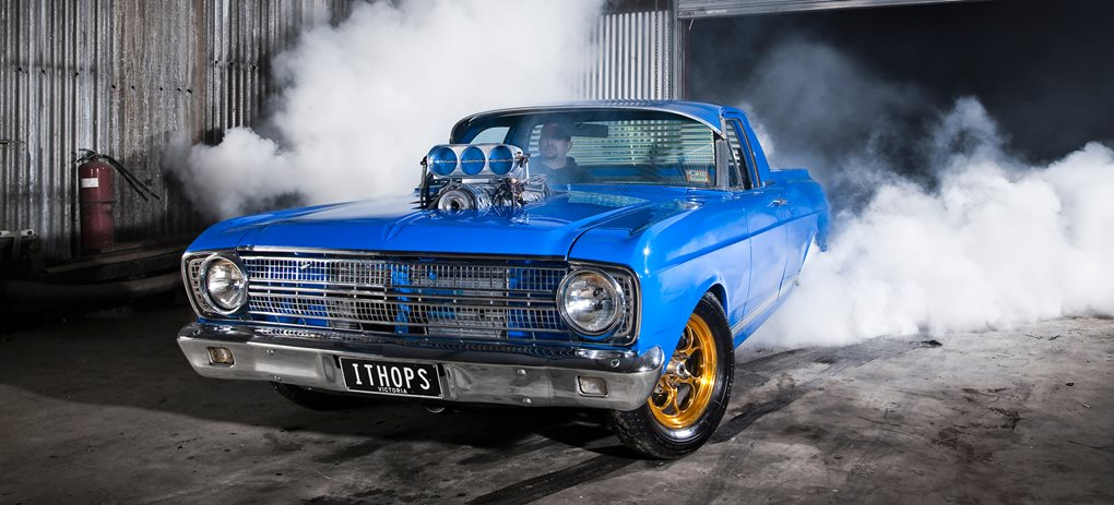 Ford XR Falcon ute blown burnout