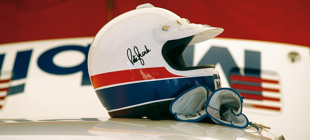 Peter Brock racing equipment