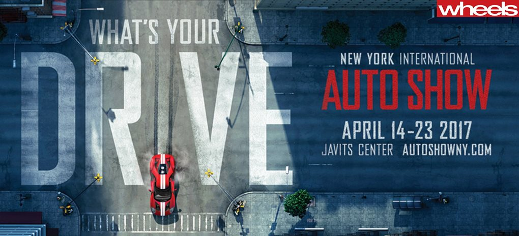 New York auto show poster wide
