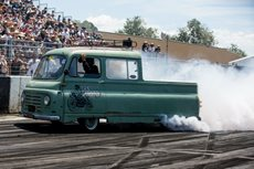 The Slug burnout at Summernats
