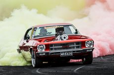 MRBADQ Summernats 29 burnout