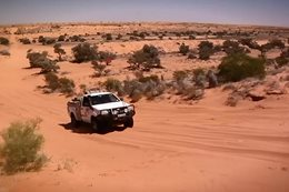 4X4 driving on Sand