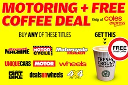 Buy 4x4 mag and get a free coffee