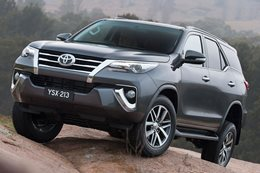 The new Toyota Fortuner off-roader