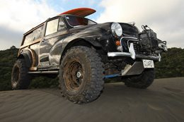 This custom 4x4 Morris Minor in New Zealand is just plain insane
