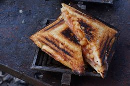 Recipe: Campfire-cooked Jaffle Iron Toastie