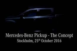 "Mercedes-Benz teases its pickup ""The Concept"""