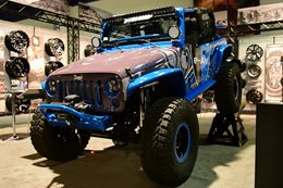 All-electric Jeep JK Wrangler at SEMA