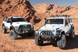 AEV Jeep Wrangler JK350 and RAM Prospector XL