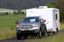 Ford Everest 2017 tow test