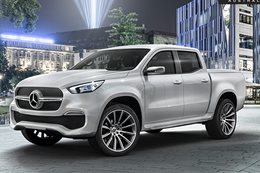 Mercedes Benz X Class Ute closer