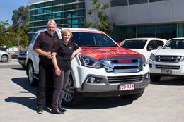 Isuzu MU X with Daniel Morcombe Foundation