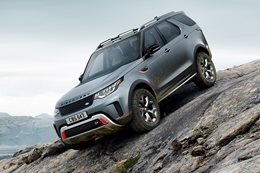 Land Rover Discovery SVX downhill