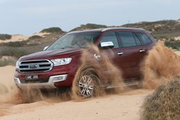 Ford Everest Titanium offroading