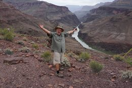 Ron Moon in the Grand Canyon, USA