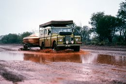 Land Rover in the Pilbara 1978