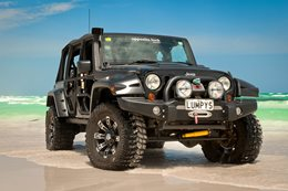 Opposite Lock equipped Jeep Rubicon front